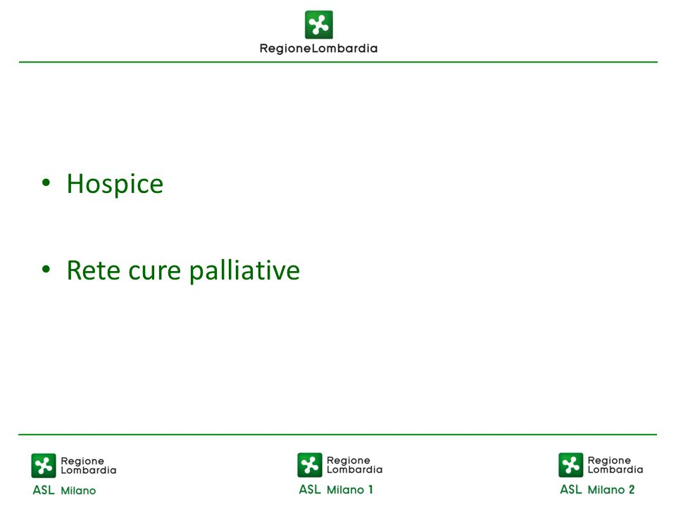 Hospice Rete cure palliative