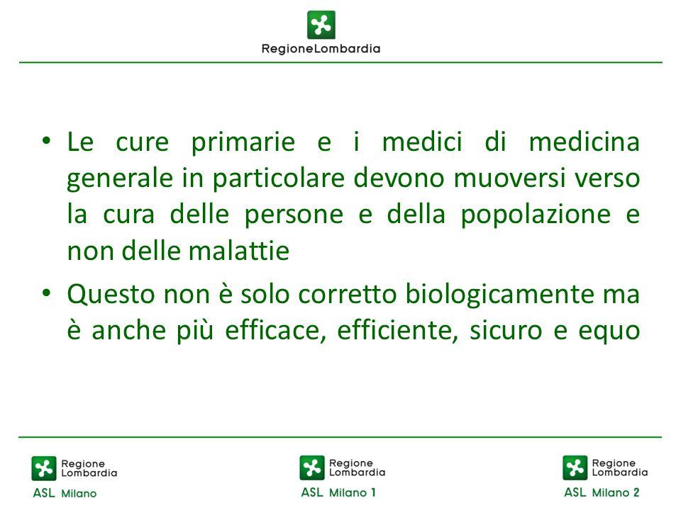 Le cure primarie e i medici di medicina generale in particolare devono muoversi verso la cura delle persone e della popolazione e non delle malattie Q