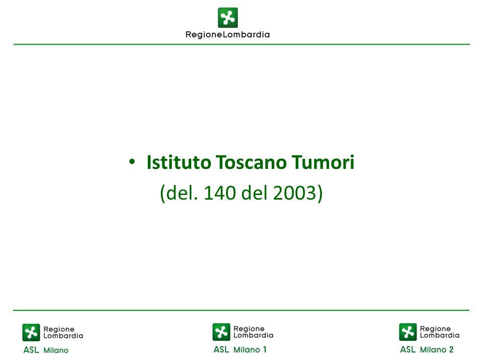 Istituto Toscano Tumori (del. 140 del 2003)