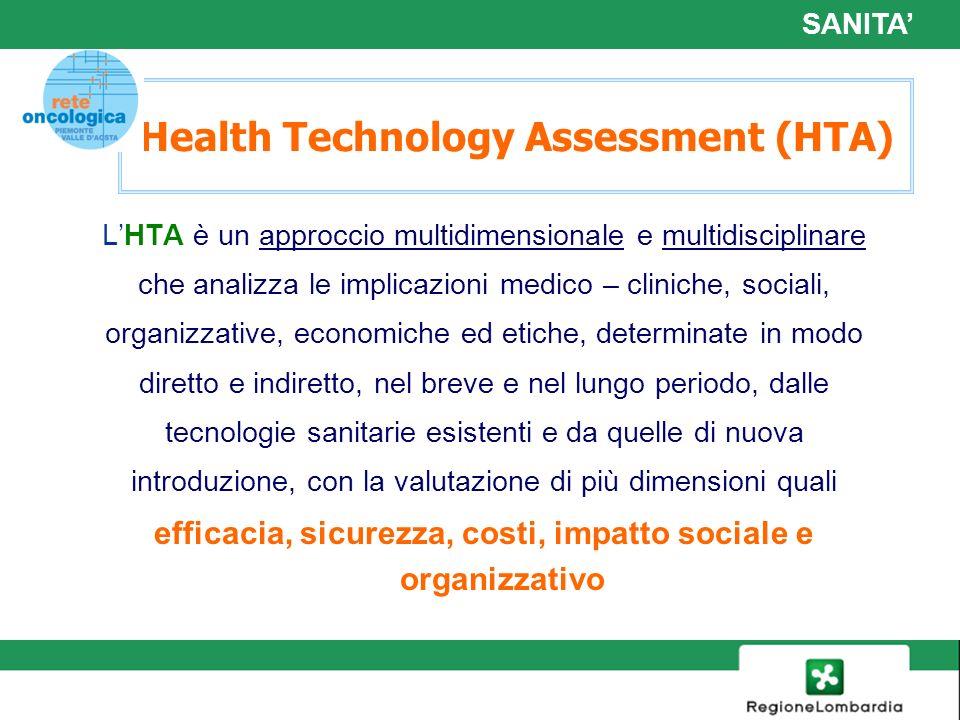13 Health Technology Assessment (HTA) LHTA è un approccio multidimensionale e multidisciplinare che analizza le implicazioni medico – cliniche, social