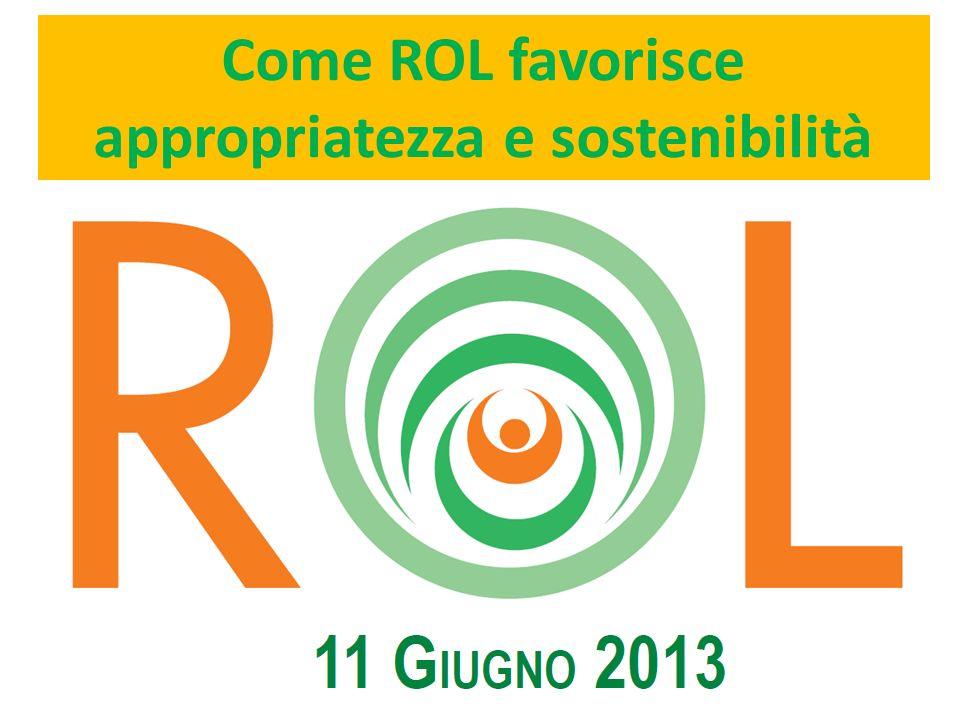 Come ROL favorisce appropriatezza e sostenibilità