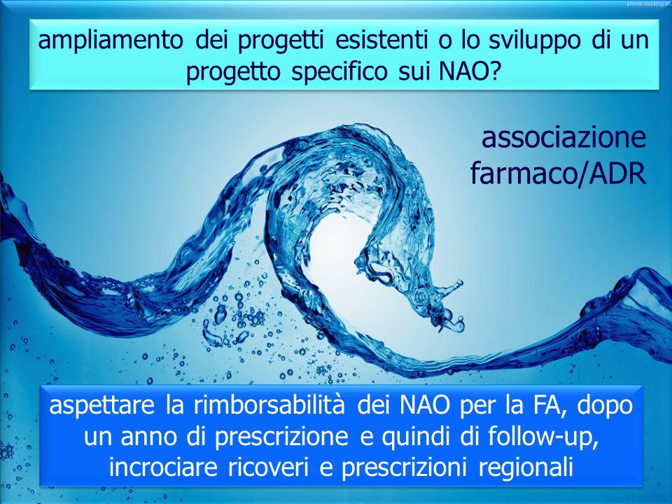 ampliamento dei progetti esistenti o lo sviluppo di un progetto specifico sui NAO? aspettare la rimborsabilità dei NAO per la FA, dopo un anno di pres