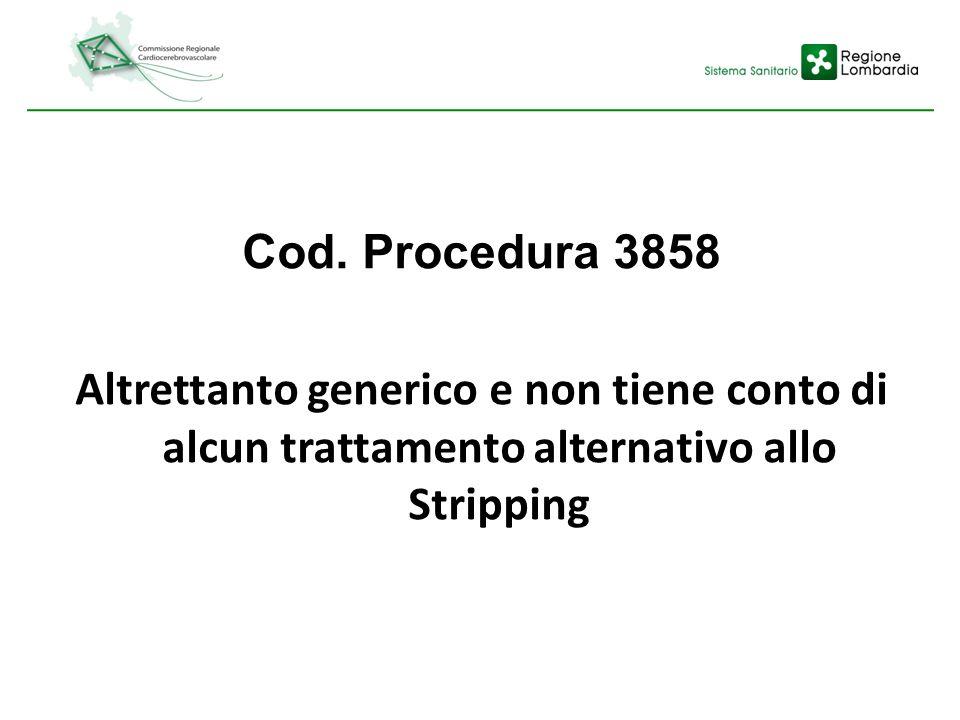 Cod. Procedura 3858 Altrettanto generico e non tiene conto di alcun trattamento alternativo allo Stripping