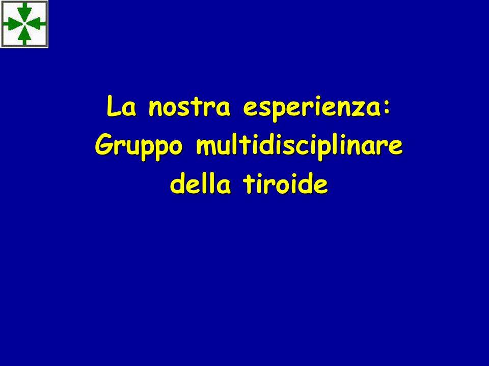 La nostra esperienza: Gruppo multidisciplinare della tiroide