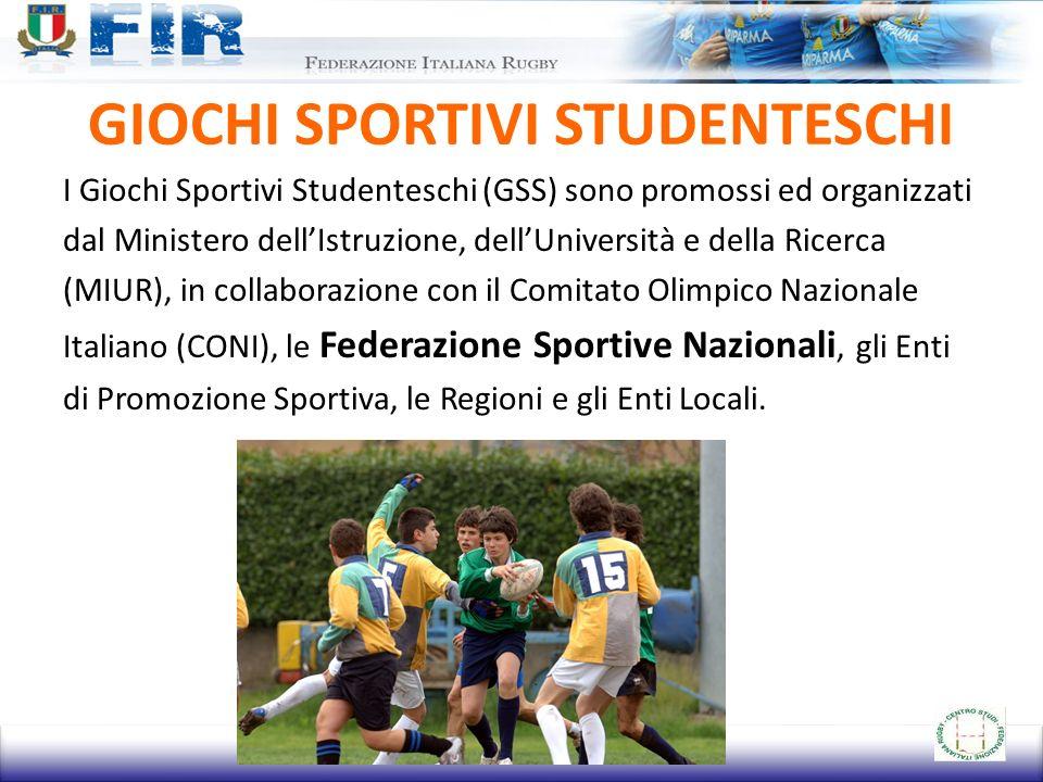 GIOCHI SPORTIVI STUDENTESCHI I Giochi Sportivi Studenteschi (GSS) sono promossi ed organizzati dal Ministero dellIstruzione, dellUniversità e della Ri