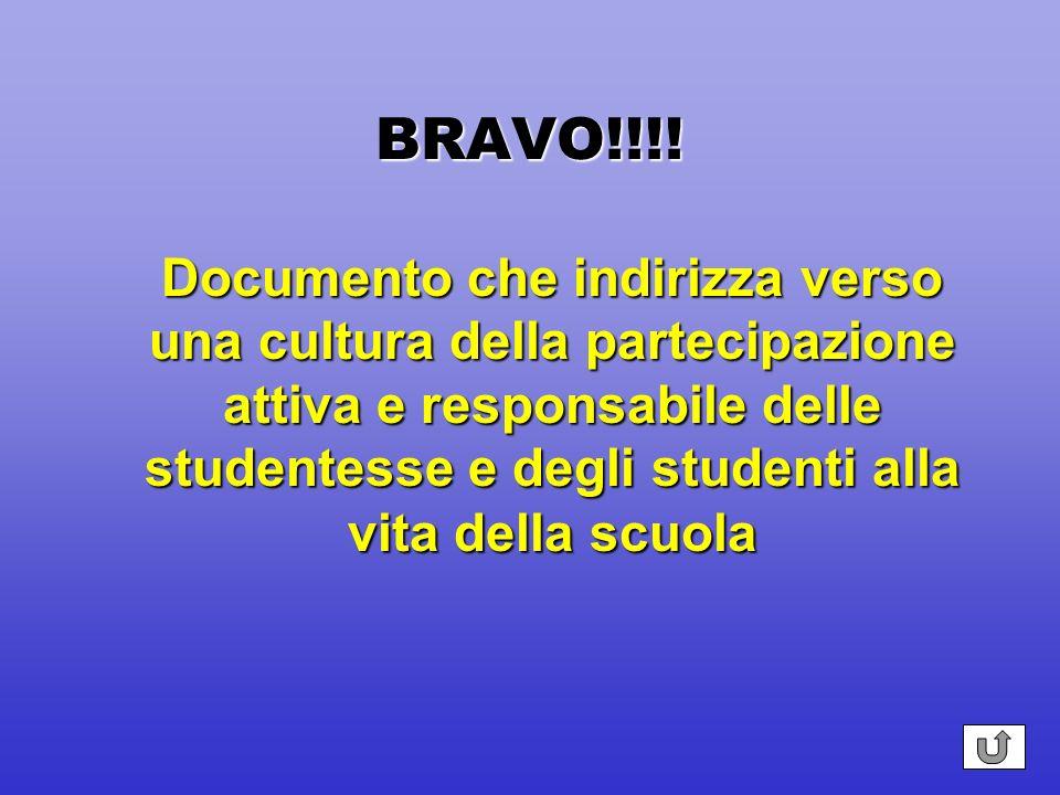 BRAVO!!!! Si tratta di un obiettivo trasversale allintera autonomia, non è previsto come azione specifica
