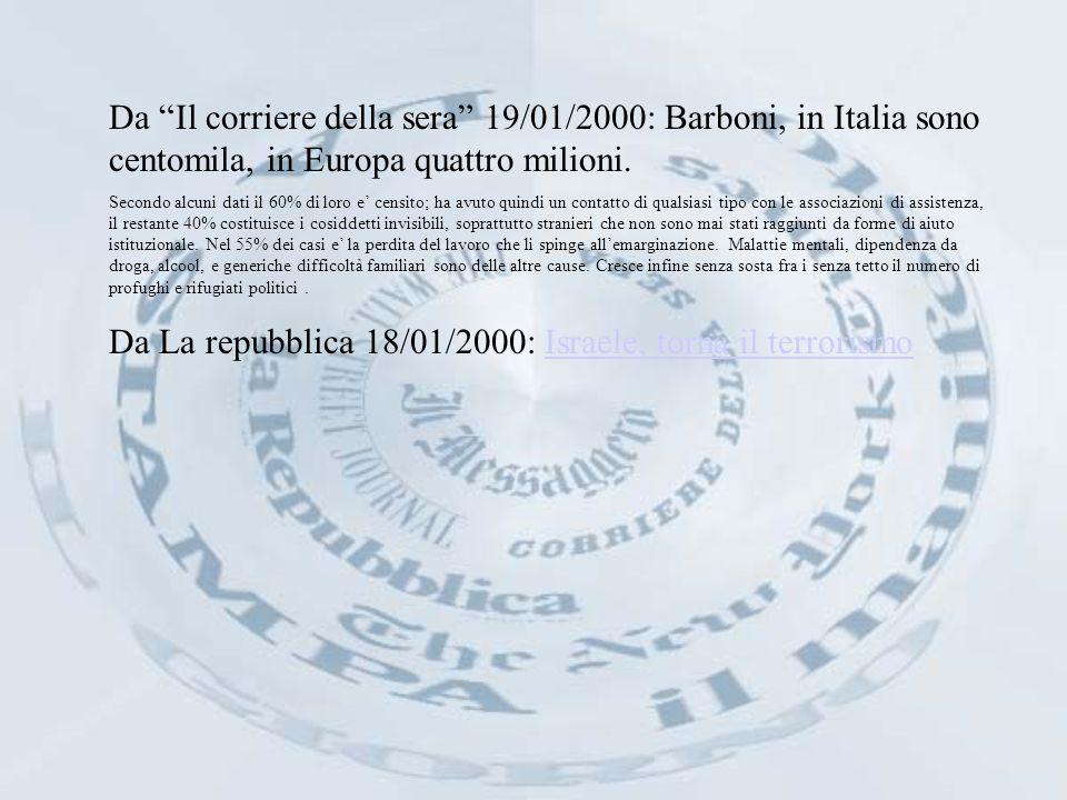 MERCOLEDI 26 GENNAIO 2000 IL FATTO: IL DIRITTO ALLA VITA