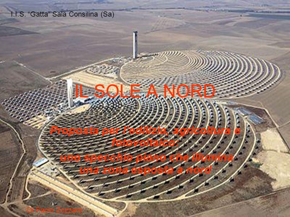 IL SOLE A NORD Proposta per ledilizia, agricoltura e fotovoltaico: uno specchio piano che illumina una zona esposta a nord Di Paolo Zozzaro I.I.S. Gat