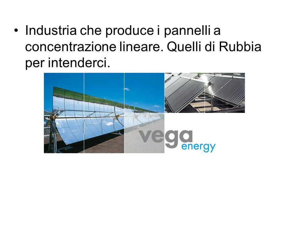 Industria che produce i pannelli a concentrazione lineare. Quelli di Rubbia per intenderci.
