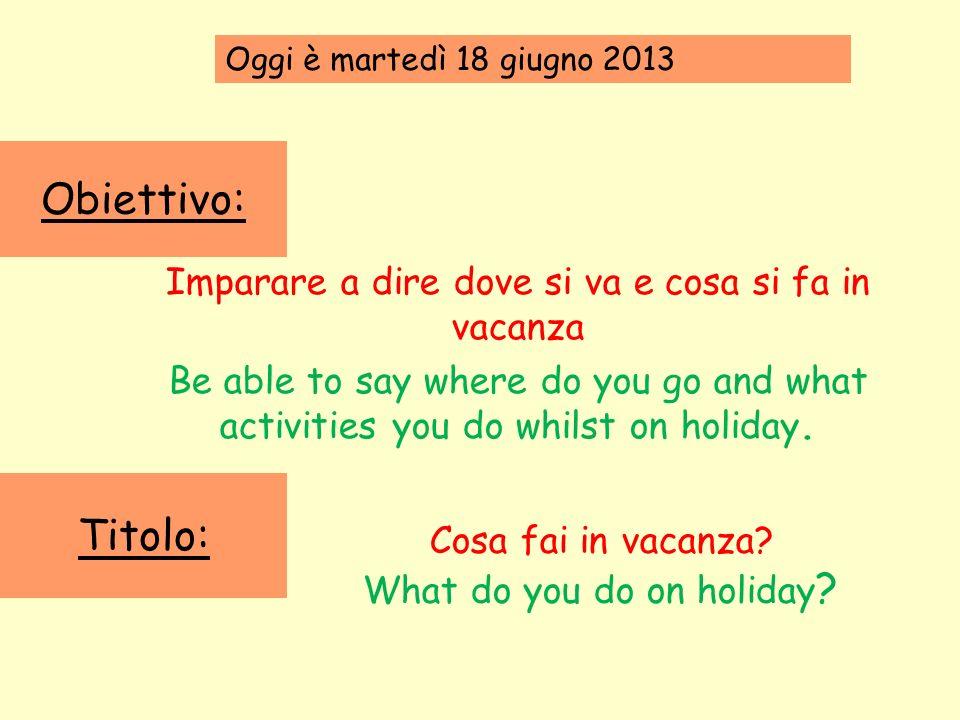 Per cominciare: Unisci le parole italiane e quelle inglesi.