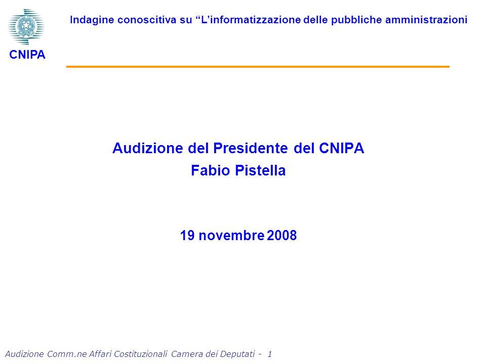 Audizione Comm.ne Affari Costituzionali Camera dei Deputati - 2 Grazie per linvito.