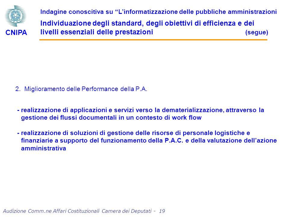 2. Miglioramento delle Performance della P.A.