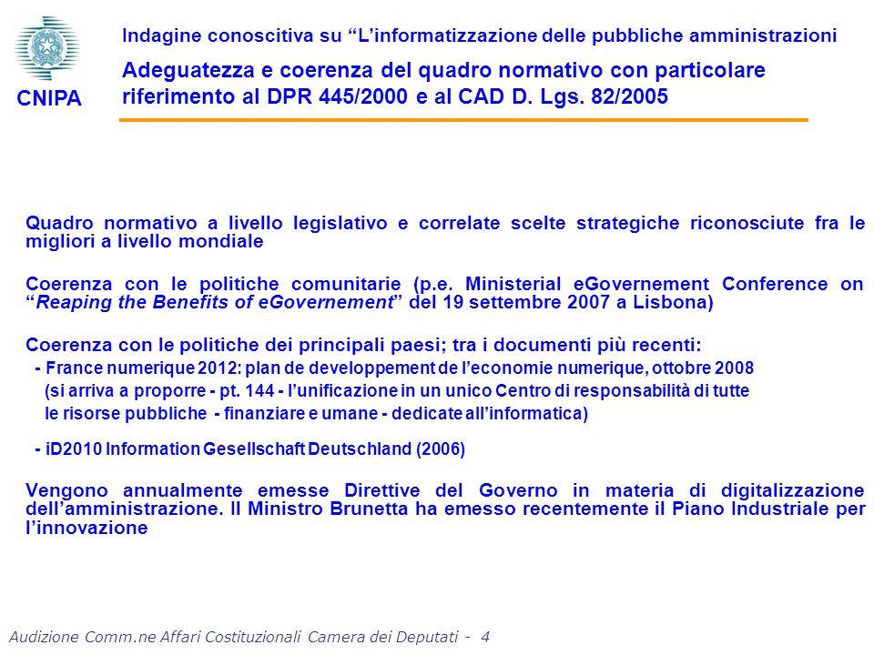 Audizione Comm.ne Affari Costituzionali Camera dei Deputati - 25 Indagine conoscitiva su Linformatizzazione delle pubbliche amministrazioni Quantità e qualità della spesa e degli investimenti (segue) CNIPA Dati in milioni di Euro e % Fonte: Elaborazioni NetConsulting su dati CNIPA e database NetConsulting PAL 1.3451.383 +4.0% +1.9% 2.9% PAC 1.701 1.620 +4.8% -8.9% -4.8% 1.907 +23.9% -20.1% -10.5%