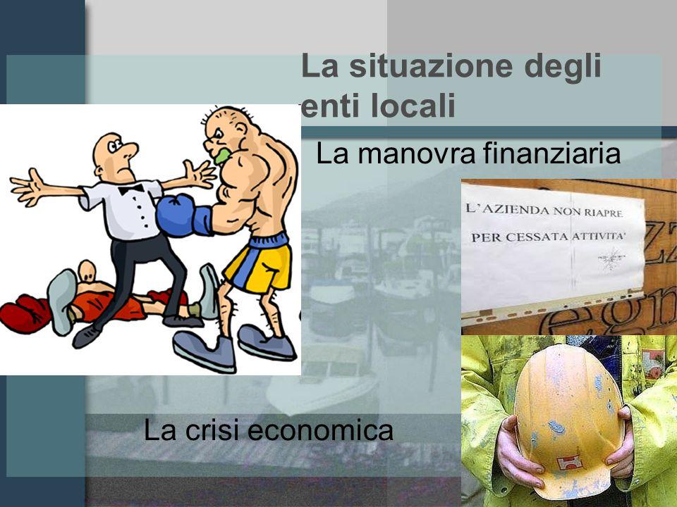 La situazione degli enti locali La manovra finanziaria La crisi economica