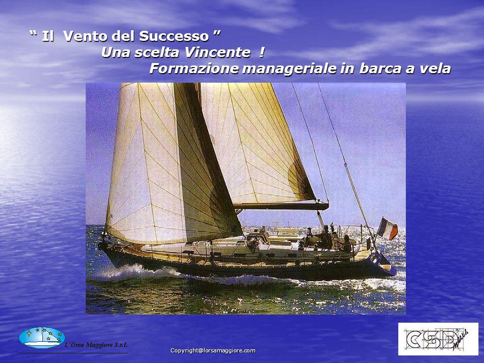 Il Vento del Successo Una scelta Vincente ! Formazione manageriale in barca a vela Il Vento del Successo Una scelta Vincente ! Formazione manageriale