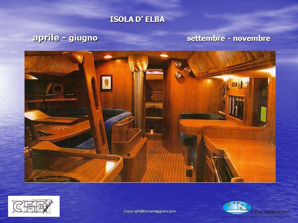 aprile - giugno aprile - giugno ISOLA D ELBA settembre - novembre Copyright@lorsamaggiore.com