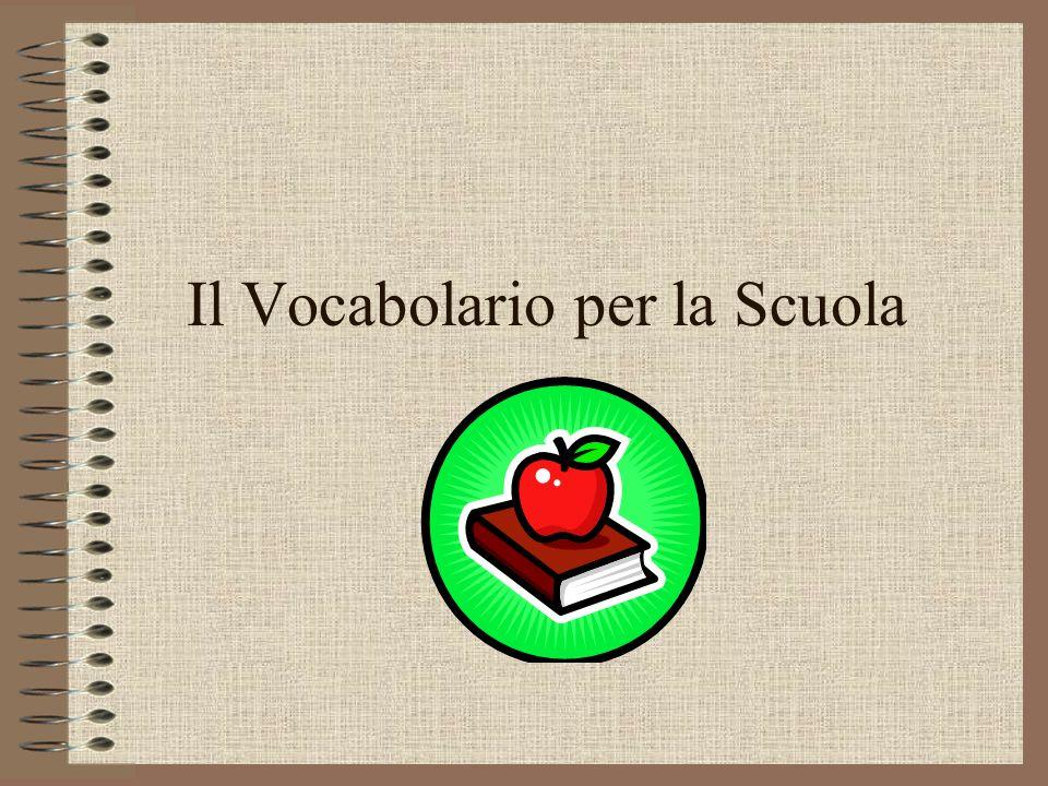 Il Vocabolario per la Scuola