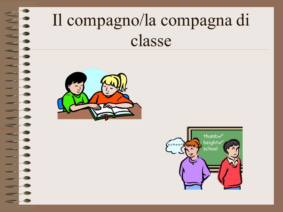 Il compagno/la compagna di classe