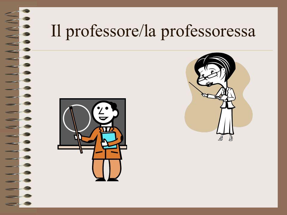 Il professore/la professoressa