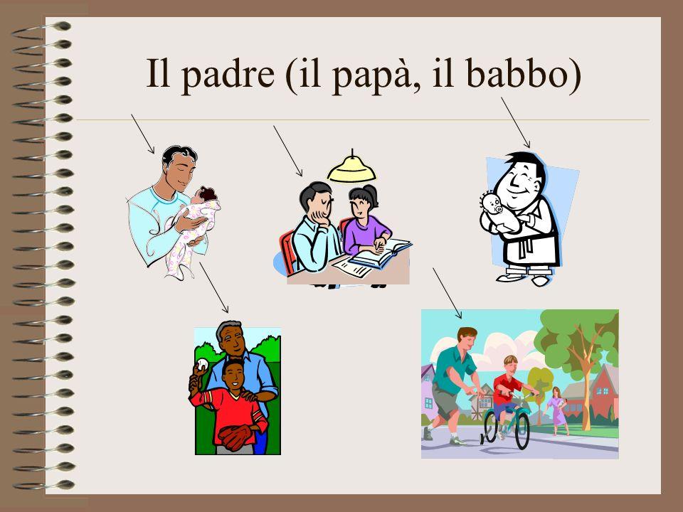 Il padre (il papà, il babbo)
