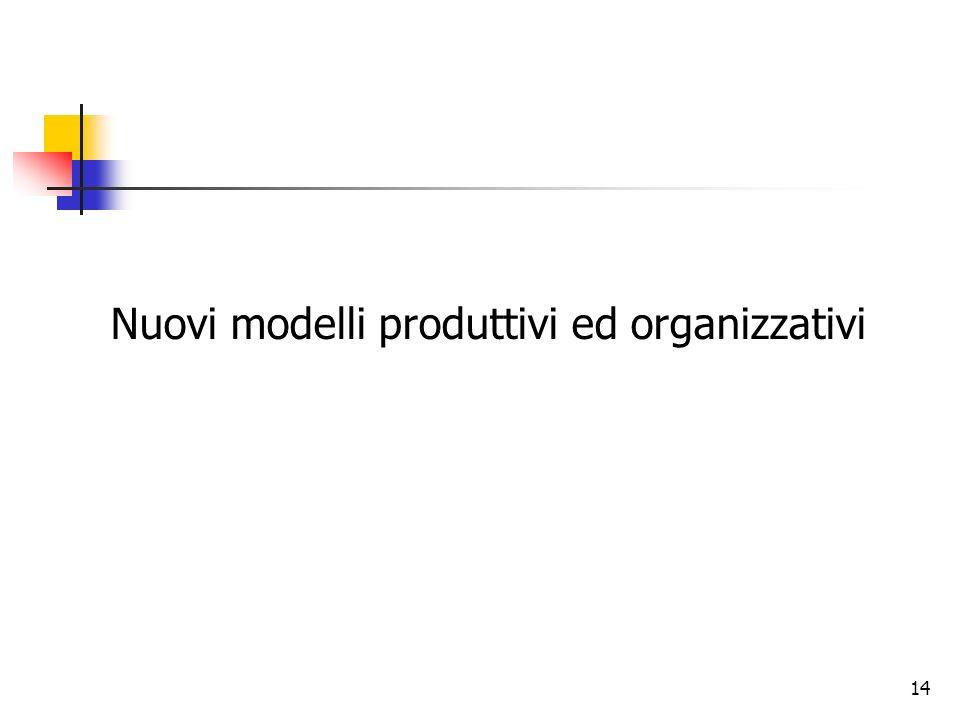 14 Nuovi modelli produttivi ed organizzativi