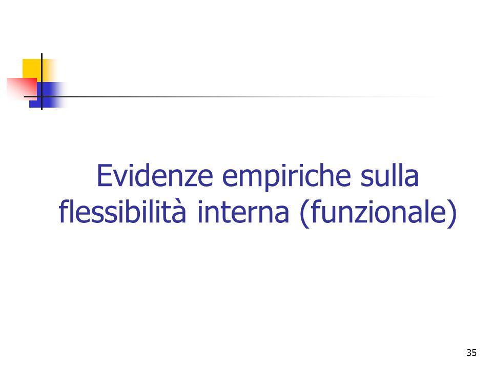 35 Evidenze empiriche sulla flessibilità interna (funzionale)