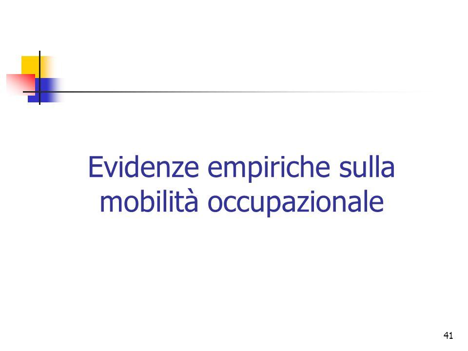 41 Evidenze empiriche sulla mobilità occupazionale