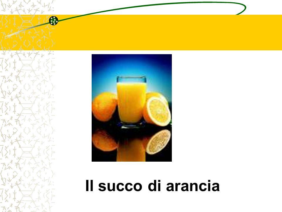 Il succo di arancia
