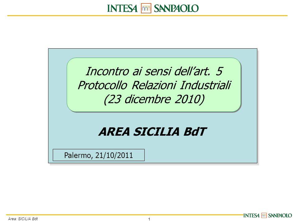 1 Area: SICILIA Bdt Incontro ai sensi dellart.
