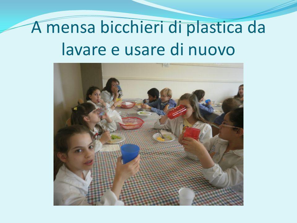A mensa bicchieri di plastica da lavare e usare di nuovo