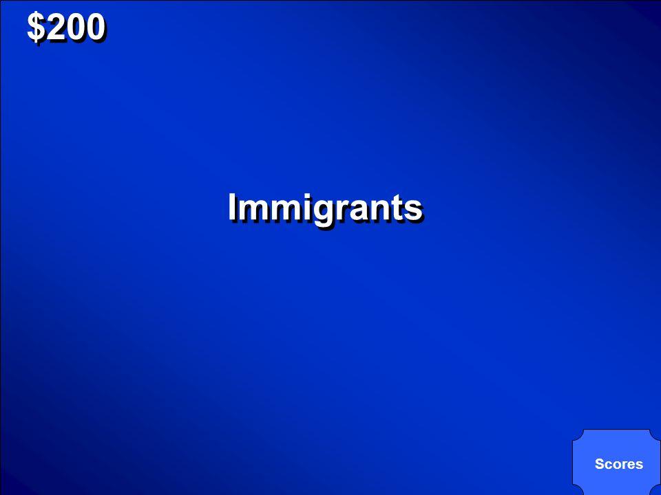 Come si dice immigranti in inglese? $200