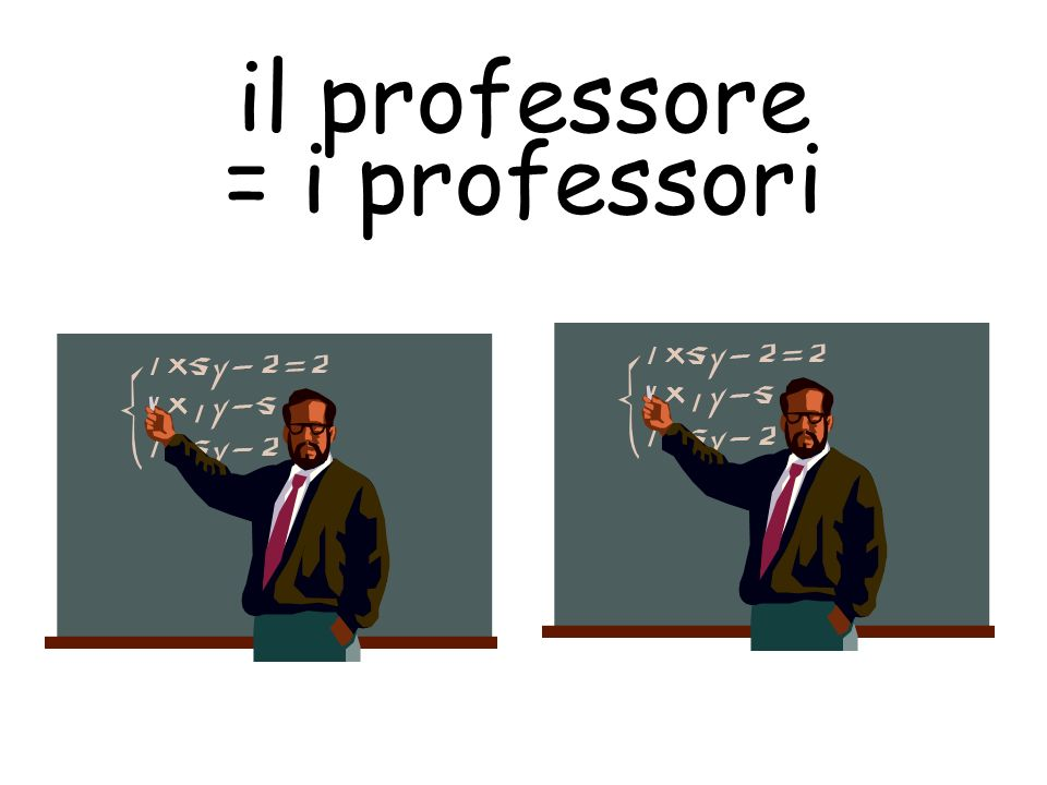 il professore = i professori