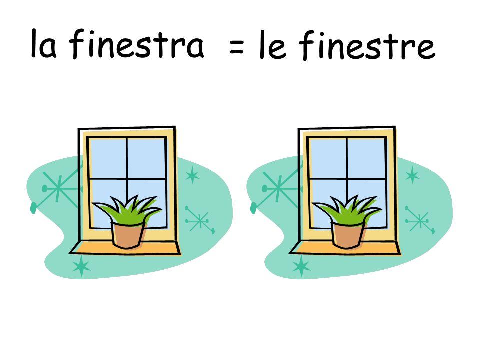 la finestra = le finestre