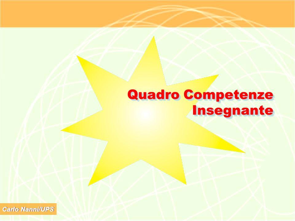 Carlo Nanni/UPS Quadro Competenze Insegnante