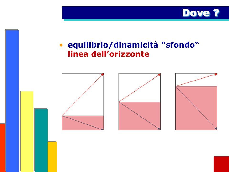 Dove ? equilibrio/dinamicità sfondo linea dellorizzonte