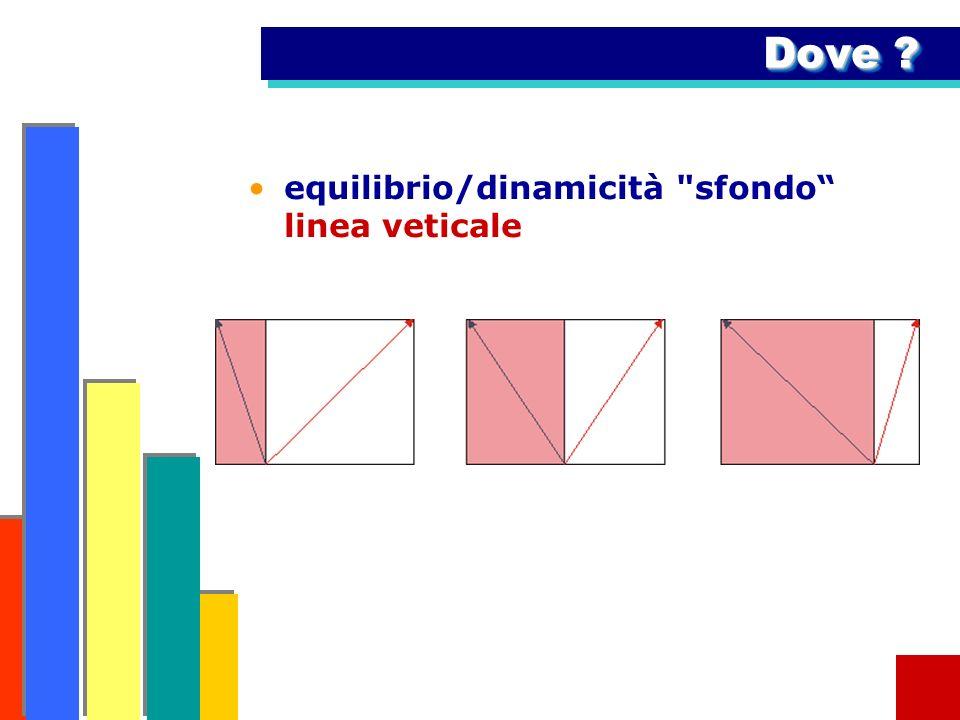 Dove ? equilibrio/dinamicità sfondo linea veticale