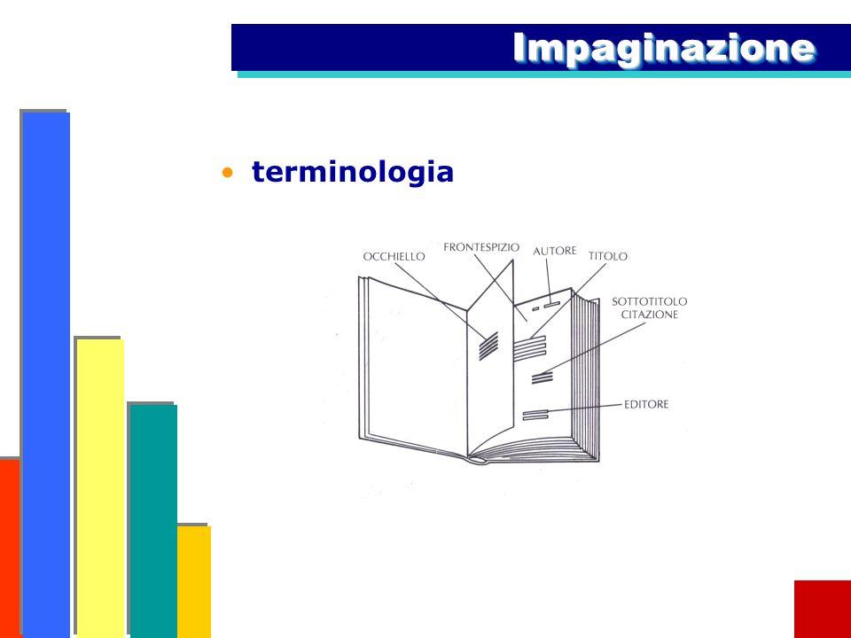 ImpaginazioneImpaginazione terminologia