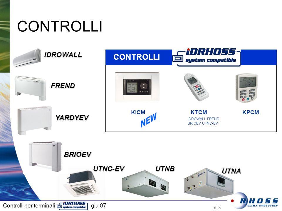Controlli per terminali giu 07 n.2 IDROWALLIDROWALL FRENDFREND UTNBUTNB CONTROLLI UTNAUTNA YARDYEVYARDYEV BRIOEVBRIOEV UTNC-EVUTNC-EV IDROWALL FREND BRIOEV UTNC-EV CONTROLLI KPCMKTCMKICM