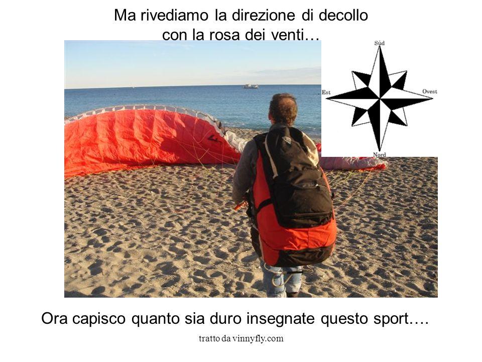 tratto da vinnyfly.com Ma rivediamo la direzione di decollo con la rosa dei venti… Ora capisco quanto sia duro insegnate questo sport….
