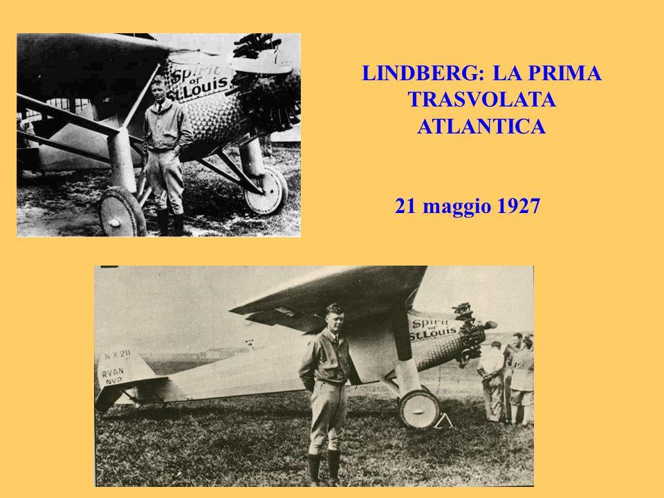 LINDBERG: LA PRIMA TRASVOLATA ATLANTICA 21 maggio 1927