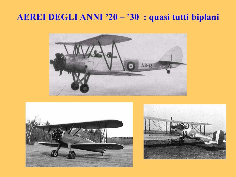 AEREI DEGLI ANNI 20 – 30 : quasi tutti biplani