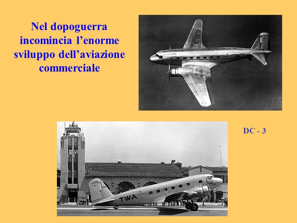 Nel dopoguerra incomincia lenorme sviluppo dellaviazione commerciale DC - 3