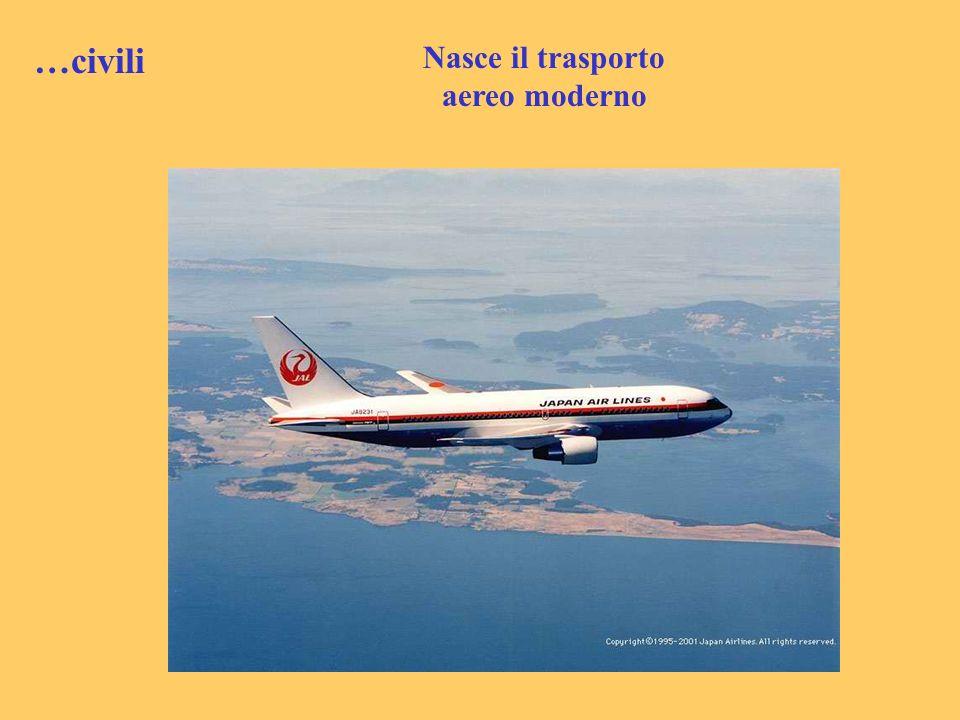 …civili Nasce il trasporto aereo moderno