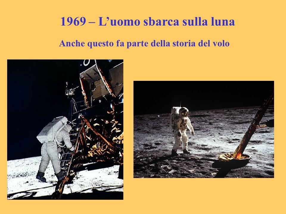 1969 – Luomo sbarca sulla luna Anche questo fa parte della storia del volo