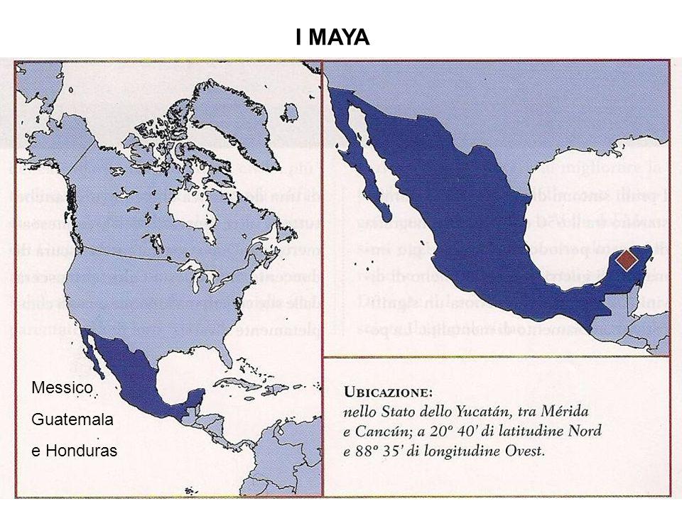I MAYA Guatemala e Honduras Messico