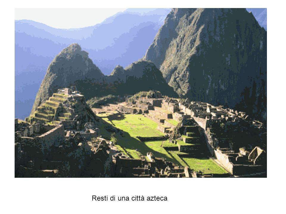Resti di una città azteca