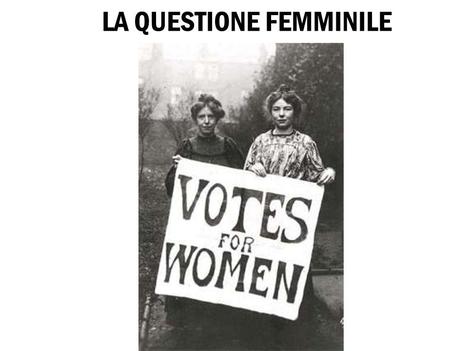 LA QUESTIONE FEMMINILE