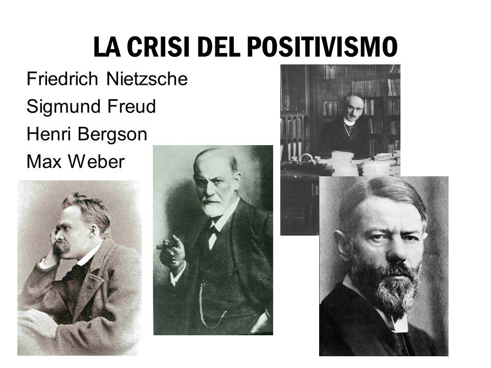 LA CRISI DEL POSITIVISMO Friedrich Nietzsche Sigmund Freud Henri Bergson Max Weber