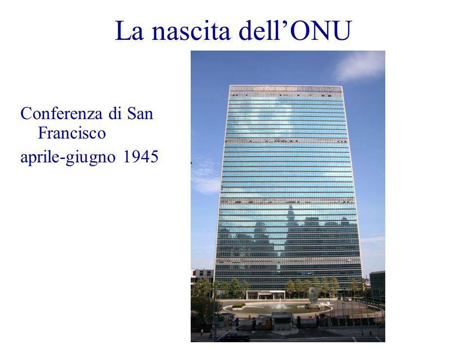 La nascita dellONU Conferenza di San Francisco aprile-giugno 1945