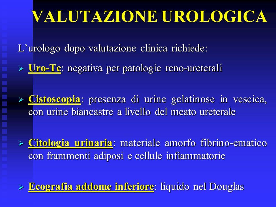 DIAGNOSI UROLOGICA Infezione delle vie urinarie Levofloxacina 500 mg 1 cp per 7 giorni TERAPIA DIMISSIONE